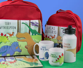 Personalised dino clothing and gifts
