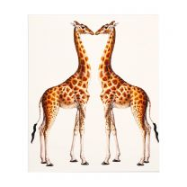 Two giraffes greetings card