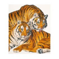 Two tigers greetings card