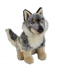 Grey wolf soft toy