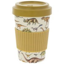 Bamboo reusable dinosaur travel mug