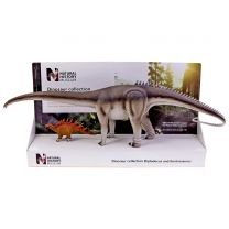 Diplodocus and Kentrosaurus models