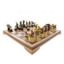 Dinosaur chess set