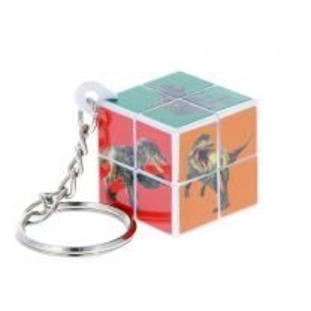 Dinosaur puzzle cube keyring