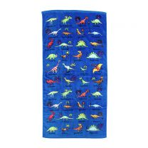 Blue dinosaur towel