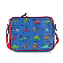 Blue dinosaur lunch bag
