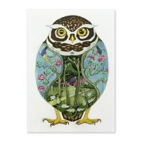 Illustrated owl card