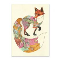 Illustrated fox card