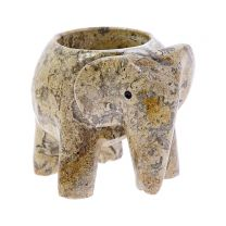 Elephant stone tea light holder