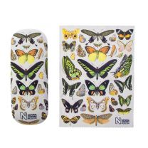 Museum butterflies glasses case and lens cloth