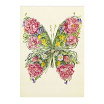 Butterfly Posy greetings card