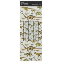 Set of 6 dinosaur pencils