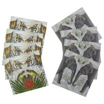 Animals of India set of 8 blank cards