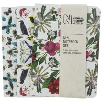 Mini flora and fauna notebooks set of 3