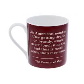 An American monkey... Darwin quote 'I think' mug