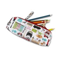 Milly Green recycled cotton pencil case