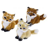 Fabric fur fox Christmas decoration