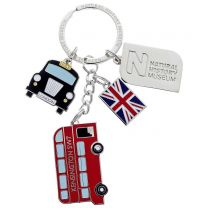 London Charms Keyring