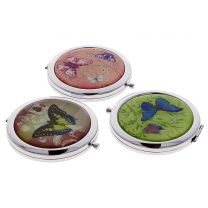 Vintage butterflies compact mirror