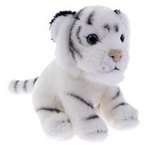 Mini white tiger soft toy