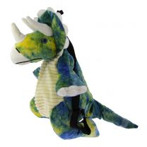 Triceratops soft toy backpack