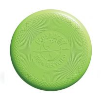 100% recycled plastic flying disc