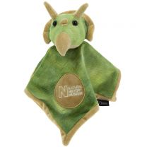 Triceratops soft toy comforter
