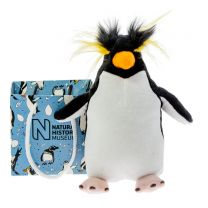 Rockhopper Penguin soft toy in a bag