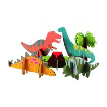 Pop-out and build dinosaur play set