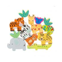 Jungle animals stacking toy