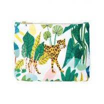 Bodil Jane leopard illustration make-up bag