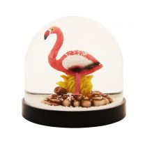 Flamingo wonderball snow globe