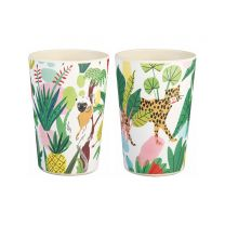 Bodil Jane leopard or lemur illustration bamboo cup