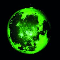 Inflatable glow in the dark moon 30cm