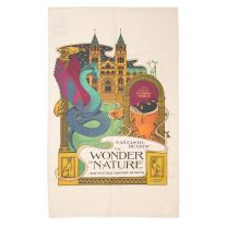 MinaLima design tea towel:  Fantastic Beasts™:  The Wonder of Nature
