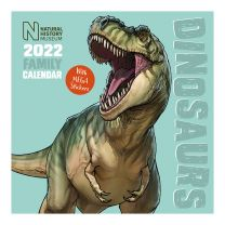 Dinosaurs 2022 family calendar with stickers front cover