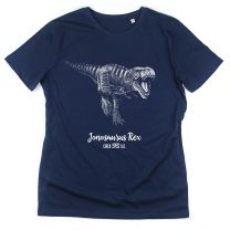 Navy T. rex custom T-shirt for adults