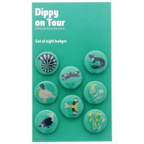 Dippy on Tour button badge set