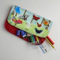 Personalised butterfly pencil case with optional stationery