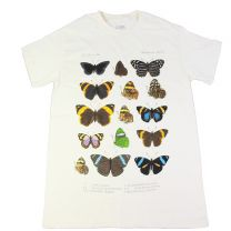 White Museum butterflies t-shirt for adults