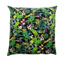 Devans Jungle cushion cover made with Liberty Fabric