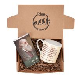 Darwin cream mug and chocolate gift set
