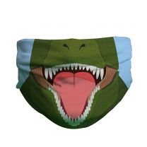 T. rex pattern face covering for kids