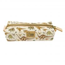 Museum dinosaur organic cotton pencil case