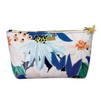 Large floral design make-up bag with bee detail