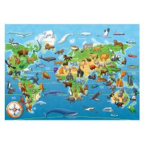 Endangered animals 60 piece giant floor puzzle