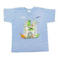 Dino Museum building kids' T-shirt
