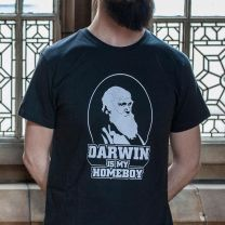 'Darwin is my homeboy' T-shirt for adults