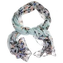 Small butterflies blue scarf