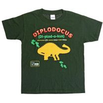 Green Diplodocus T-shirt for kids